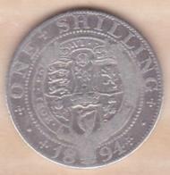Grande Bretagne. 1 Shilling 1894. Victoria ,en Argent - 1816-1901 : Frappes XIX° S.