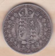 Grande-Bretagne Half Crown 1890  Victoria , En Argent - K. 1/2 Crown