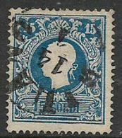 Italy, Lombardy & Venetia,1858, 15 Soldi, Blue, Type I, C.d.s Used - Lombardy-Venetia