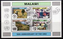 Malawi 1995 50th Anniversary Of UN MS, Used, SG 948 (BA2) - Malawi (1964-...)