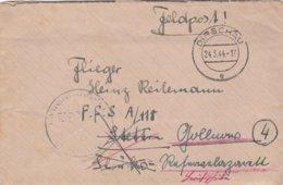 German Feldpost WW2: To Flugzeugführerschule A 118 In Stettin But Rerouted To Reservelazarett Gollnow - Militaria