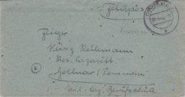 German Feldpost WW2: Reservelazarett Gollnow In Pommern (Goleniów, Poland) From RAD Abt. In Hohenstein - Militaria