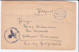 German Feldpost WW2: To Reservelazarett Gollnow In Pommern (Goleniów, Poland) From RAD Abt. In Hohenstein - Militaria