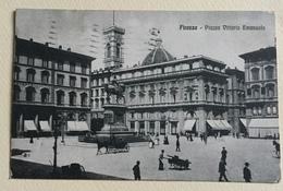 FIRENZE - PIAZZA VITTORIO EMANUELE 1923 VIAGGIATA FP - Firenze