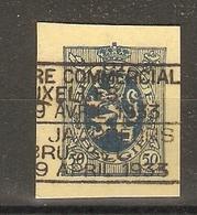 Belgique 9 Avril 1933 - Fragment D'entier Postal - Lion Héraldique 50 C - Flamme Bilingue Foire Commerciale Bruxelles - Marcophilie