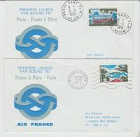 1970 - 1ère Liaison PARIS/ PTE A PITRE & Retour /  PARIS Gare PLM  TB - Marcophilie (Lettres)