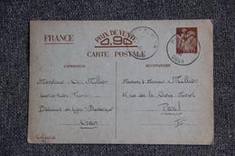 Entier Postal Sur Carte Postale D'ORAN Vers PARIS ( 1941) - Algérie (1924-1962)