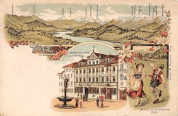 Gruss Aus TÖLZ - Lithographie Moch & Stern München - Bad Toelz