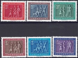 1953 Série Caritas 6 Timbres Neuf, Michel 2019: 517-522 2Scans Val.Cat. 28€ - Luxembourg