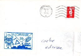 FS GERMINAL Cachet  Mission CORYMBE 26 Obl. Paris Naval  01/06/96 - Marcophilie (Lettres)