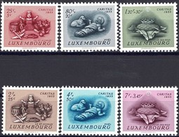 1955 Série Caritas Traditions 6 Timbres Neuf, Michel 2019: 541-546  2Scans Val.Cat. 28€ - Luxembourg