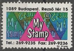 My Stamps LABEL CINDERELLA VIGNETTE Advertising Printing Company INERTIA Kft. Ltd. 1990's Hungary Budapest MNH - Erinnofilia