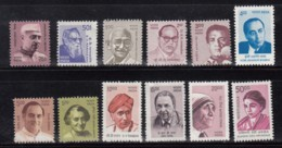 India MNH 2008, Set Of 12, 10th Definitive Sereis, - Unused Stamps