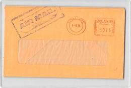 11161 01  AIR MAIL SINGAPORE 1976 EVATT & CO PRICE WATERHOUSE & CO - Singapore (1959-...)
