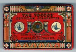 EGYPTIAN CIGARETTE TIN BOX THE TOCCOS CAIRO AND ALEXANDRIA - Sigarettenkokers (leeg)