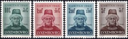 1946 Série Caritas Jean L'Aveugle 4 Timbres Neuf, Michel 2019: 413-416  2Scans Val.Cat. 4,50€ - Luxembourg