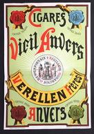 1893 RARE Affiche Cigare VIEIL ANVERS Verellen Frères à Anvers Litho Donnez à Bruxelles - Affiches