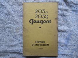 Notice D'entretien (Peugeot 203cl-203c5-c8 ) - Auto
