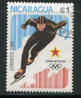 NICARAGUA- Y&T N°1318- Oblitéré (patinage) - Nicaragua
