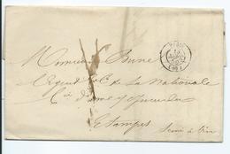 Lettre De Paris Pour Etampes 1850 - 1849-1876: Classic Period