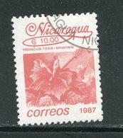 NICARAGUA- Y&T N°1439- Oblitéré (fleurs) - Nicaragua