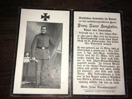 Sterbebild Wk1 Ww1 Bidprentje Avis Décès Deathcard 1. Reserve Jäger Bataillon CARENCY 9. Mai 1915 Aus Linertshub - 1914-18