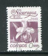 NICARAGUA- Y&T N°1256- Oblitéré (fleurs) - Nicaragua