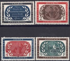 1955 Série 10 Ans Nations Unies 4 Timbres Neuf, Michel 2019: 537-540  2Scans Valeur Cat. 11€ - Luxembourg