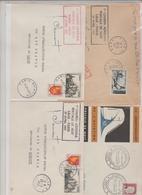 1957/61 - POSTALE DE NUIT Vols Intérieurs / 4 LSC Dt 2 Signature Pilote TB - Marcophilie (Lettres)