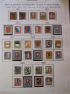 10645 SUISSE  Collection Vendu Par Page */° Armoiries Des Cantons  1918-26  TB - Suisse