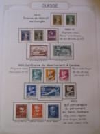 10648 SUISSE  Collection Vendu Par Page */°   1930-32  TB - Lotti/Collezioni