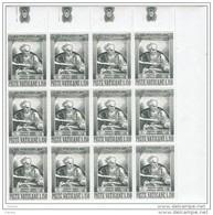 VATICANO:  1964  MICHELANGELO  -  S. CPL. 5  VAL. BL. 12  N. -  SASS. 387/91 - Blocs & Hojas