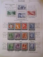 10649 SUISSE  Collection Vendu Par Page */° Pour La Jeunesse  1931-34  TB - Suisse