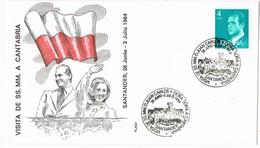 31090. Carta Exposicion SANTANDER 1984. Visita Reyes Juan Carlos Y Sofia A Cantabria - 1931-Hoy: 2ª República - ... Juan Carlos I