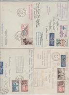 1959/62 - 1er VOLS CARAVELLE Pour Moscou X 2, Francfort X 2 / 4 LSC TB - Marcophilie (Lettres)