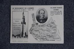 PARIS - Exposition Coloniale 1931 - Le Monument De L'Armée  : COURBET,Amiral De FRANCE - Expositions