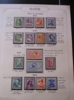 10651 SUISSE  Collection Vendu Par Page */° Pour La Jeunesse  1935-38  TB/TTB - Suisse
