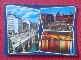 POSTAL POST CARD CARTE POSTALE FINLANDIA ? FINLAND ? SUOMI ? WITH STAMP CON SELLO CIRCULADA HELSINKI HELSINGFORS BOSTON - Finlandia