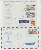 1962 - AVIANCA 1er VOLS Pour Bogota & Porto-Rico Fort / 2 LSC TB - Marcophilie (Lettres)