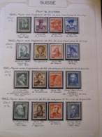 10655 SUISSE  Collection Vendu Par Page */° Pour La Jeunesse  1939-42  TB/TTB - Suisse