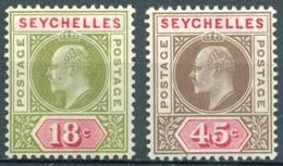 Seychelles - 1903  - Yt 43 Et 45 - Edouard VII - * Charnière - Seychelles (...-1976)