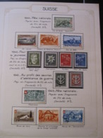 10658 SUISSE  Collection Vendu Par Page */° Fête Nationale  1944-45  TB/TTB - Suisse