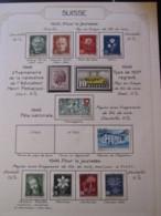 10659 SUISSE  Collection Vendu Par Page */° Pour La Jeunesse Et Fête Nationale  1945-46  TB/TTB - Suisse