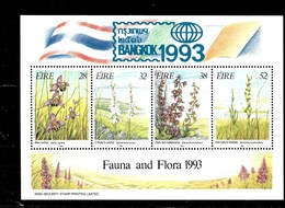 Hoja Bloque De Irlanda Nº Yvert HB-14 ** FLORES (FLOWERS) - Hojas Y Bloques
