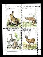 Hoja Bloque De Irlanda Nº Yvert HB-3 O  ANIMALES (ANIMALS) - Hojas Y Bloques