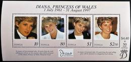 # Tonga 1998**Mi.1512-15  Princess Diana , MNH [19;173] - Beroemde Vrouwen