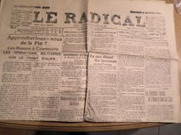 JOURNAL LE RADICAL DE MARSEILLE MERCREDI 5 JANVIER 1916 - 1914-18