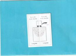 **La Vie Est Belle**Cette Carte Est Formée De 2 Petites Cartes Qui Peuvent être Séparées Selon Les Pointillés ! - Cartes Parfumées