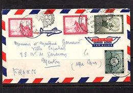 1955 Head Quarters > Menton France (90) - Lettres & Documents