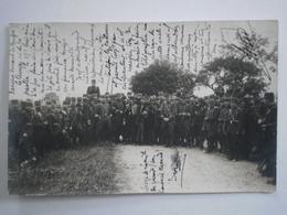 1913 CARTE PHOTO Militaires Pour BAR SUR AUBE En Champagne Près Troyes Militaria EXPéDiée De Dijon Côte D'Or 21 - Bar-sur-Aube